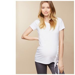 SOLD 💜 motherhood maternity // lace up side tee